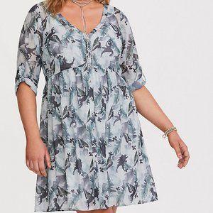 Torrid Jurassic World Chiffon Mini Dress